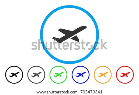 airplane takeoff vector rounded