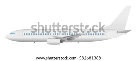 airplane template vector side