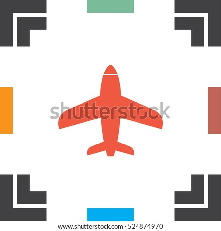 airplane vector icon aircraft