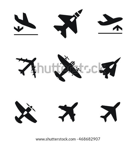 airplane vector icons simple