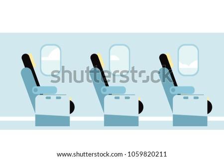 airplane vector interior