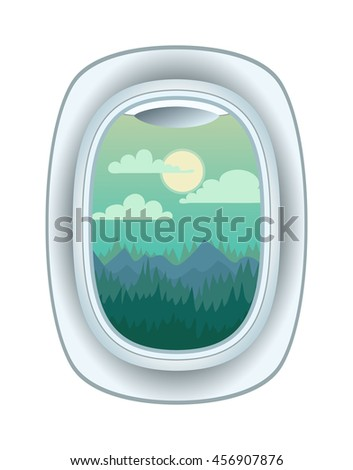 airplane window nature outdoor