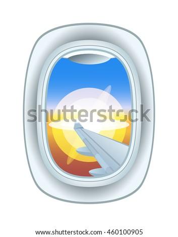 airplane window nature outdoor