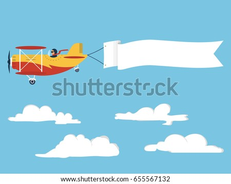 airplane with blank poster