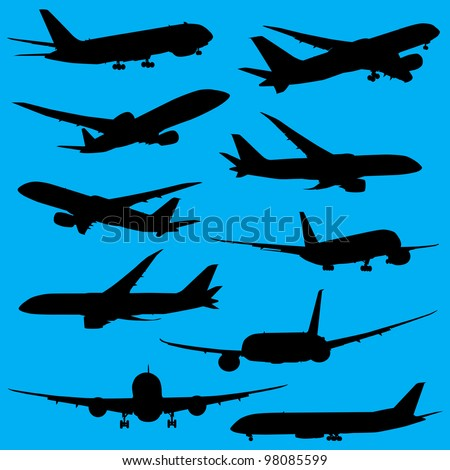 Airplanes silhouettes part 2