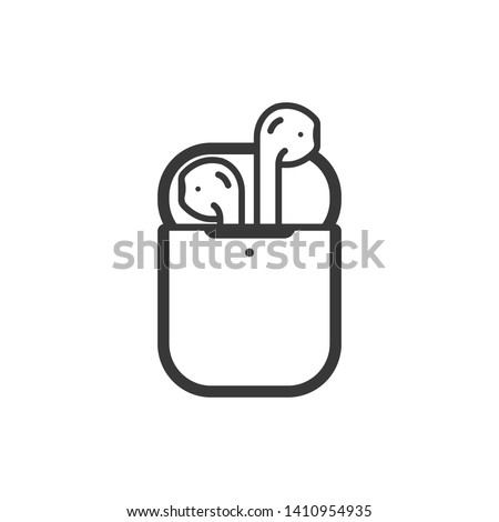 Airpods icon isolated on white background. Wireless symbol modern, simple, vector, icon for website design, mobile app, ui. Vector Illustration