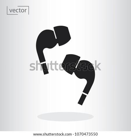 Airpods wireless headphones icon - vector illustration EPS, flat design icon