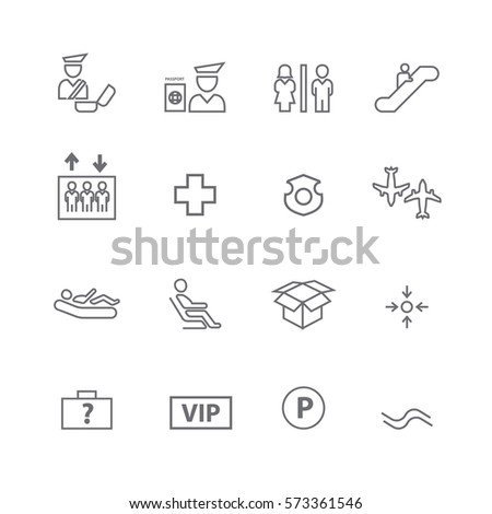 Airport and transport icons set,Vector