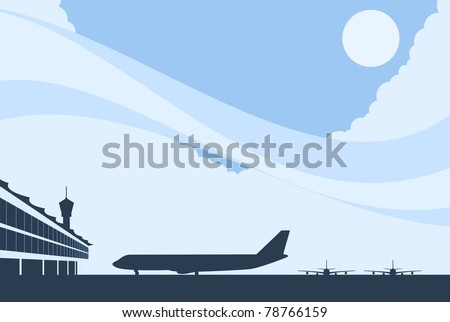 Airport Background-vector