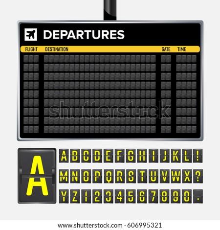 airport board vector. realistic ...