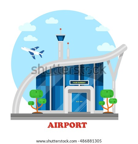 airport building with flying