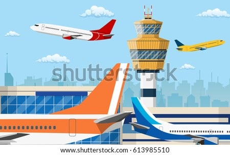 airport control tower and