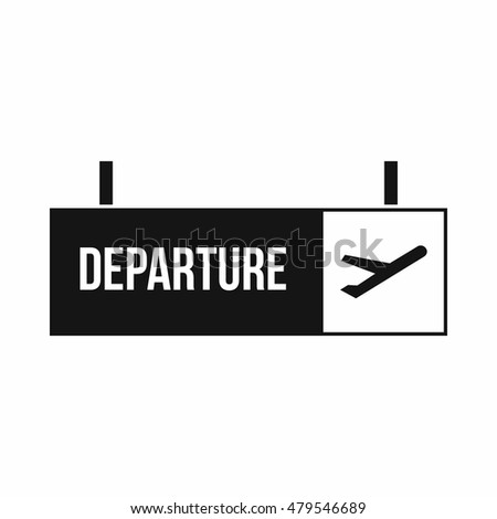 airport departure sign icon in...