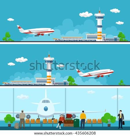 airport horizontal banners