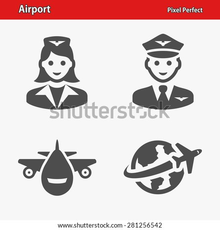 Airport Icons Professional pixel perfect icons optimized for both large and small resolutions EPS 8 format
