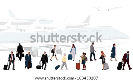 Airport Illustration - stock vector