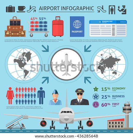 airport infographics template