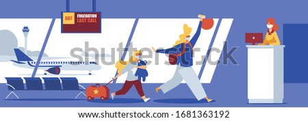 airport interior scene family