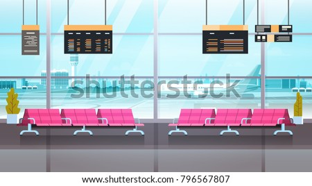 airport interior waiting hall