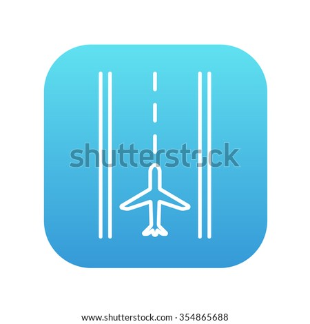airport runway line icon for