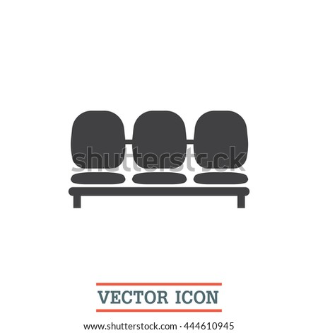 airport seat vector icon
