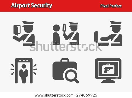 airport security icons