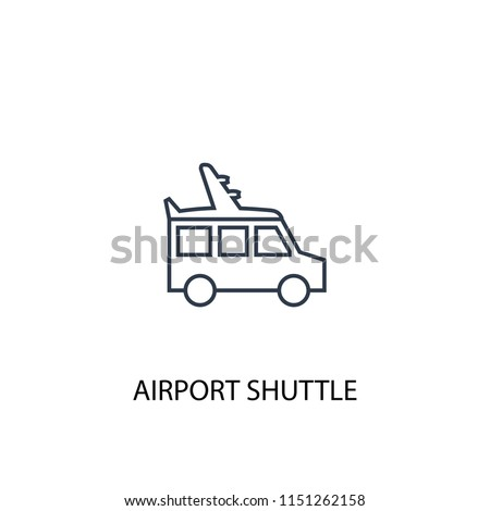 airport shuttle concept line icon. Simple element illustration. airport shuttle concept outline symbol design from Hotel set. Can be used for web and mobile UI/UX