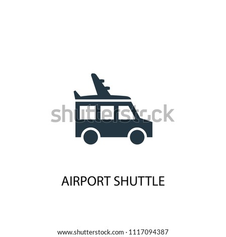 airport shuttle creative icon. Simple element illustration. airport shuttle concept symbol design from Hotel collection. Can be used for web and mobile.