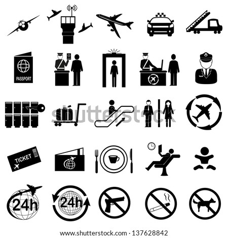 Royalty Free Stock Photos And Images Airport Sign Airport Icons