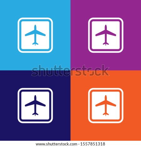 airport sign icon. Element of travel icon for mobile concept and web apps. Detailed airport sign icon can be used for web and mobile