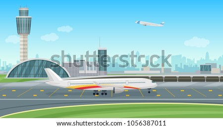 airport terminal building with