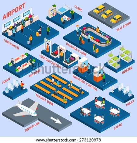airport terminal concept with