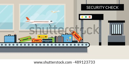 Airport Terminal Security Check, Aircraft, Commercial Aviation, Aerial Transport