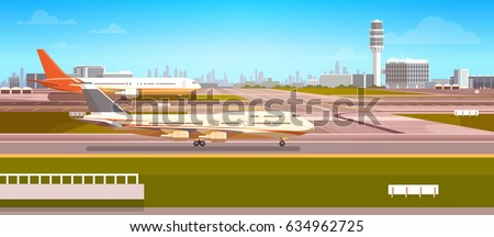 airport terminal with aircraft