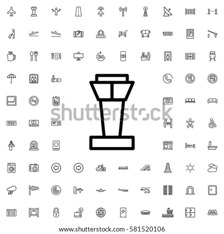 airport tower icon illustration isolated vector sign symbol. Airport icons set.