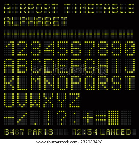 airport vector timetable green