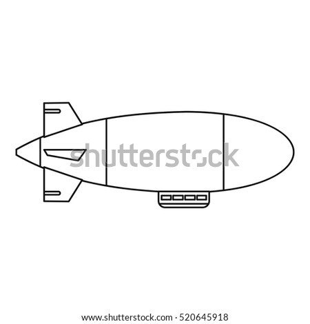 Airship balloon aerostat icon. Outline illustration of airship balloon aerostat vector icon for web