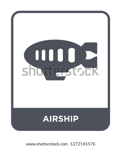 airship icon vector on white background, airship trendy filled icons from Free time collection, airship simple element illustration