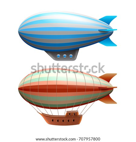 airship isolated on white photo