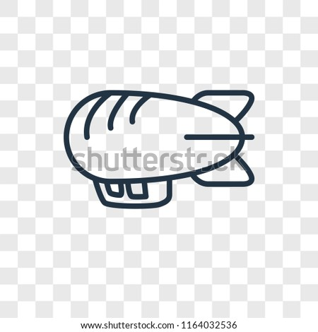 Airship vector icon isolated on transparent background, Airship logo concept