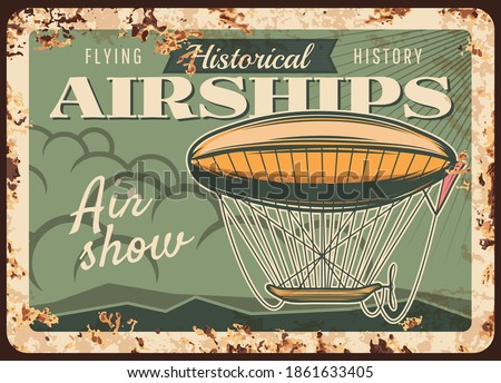 airships show rusty metal plate