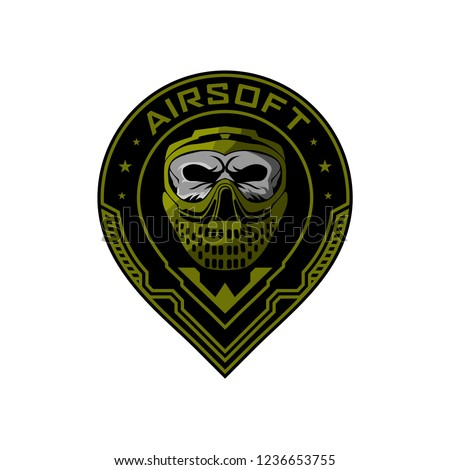 airsoft team logo skull helmet