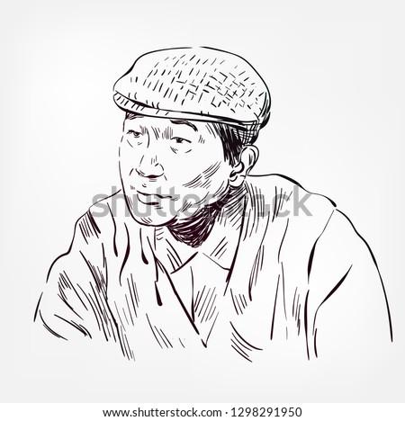 akira kurosawa vector sketch