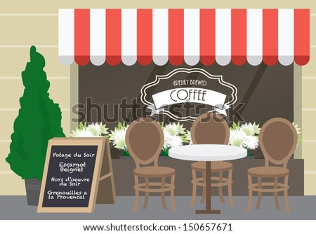al fresco cafe vector illustration
