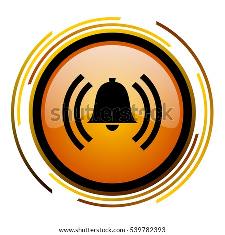 alarm bell sign vector icon