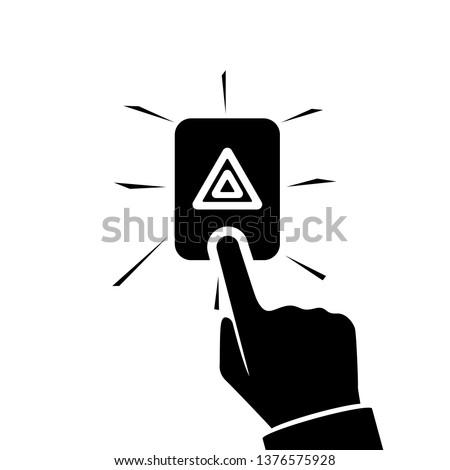 alarm button car blacl icon