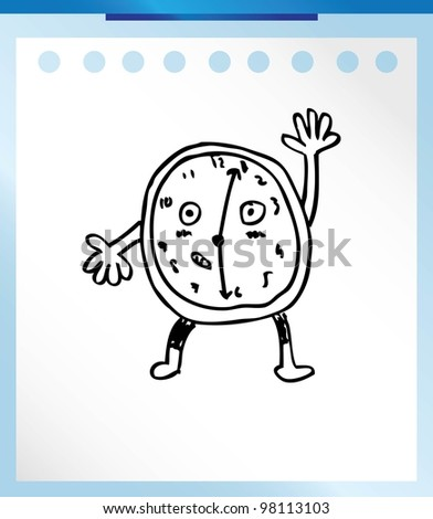 alarm clock analog , vector illustration