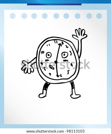 alarm clock analog , vector illustration