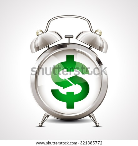 alarm clock   business symbol