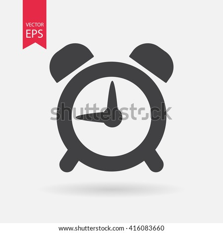 alarm clock icon vector icon